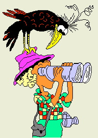 birder binoculos cartoon fundoWEB