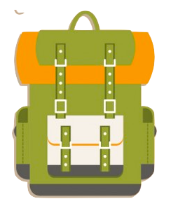 camping icon collection 5 color mochila