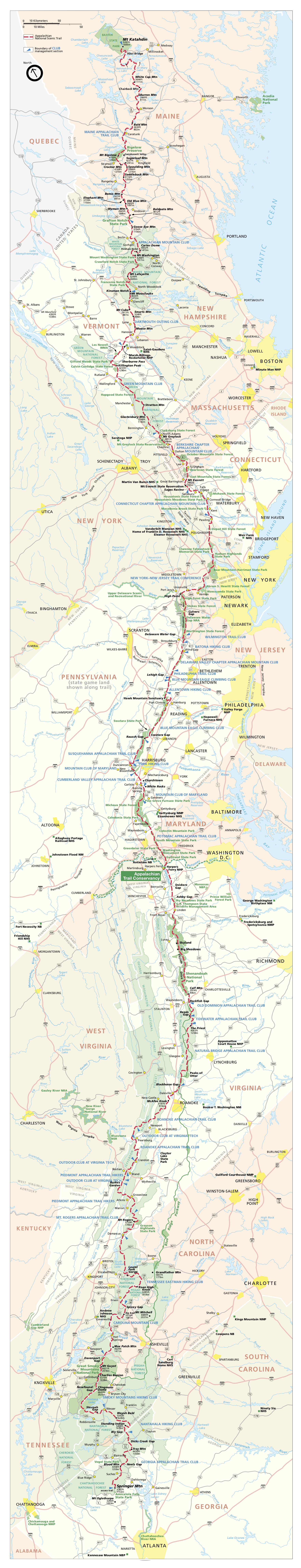 appalachian trail map 1872x7200px web