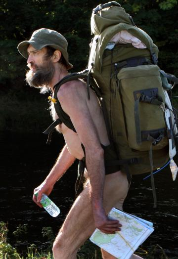 appalachian naked hiker