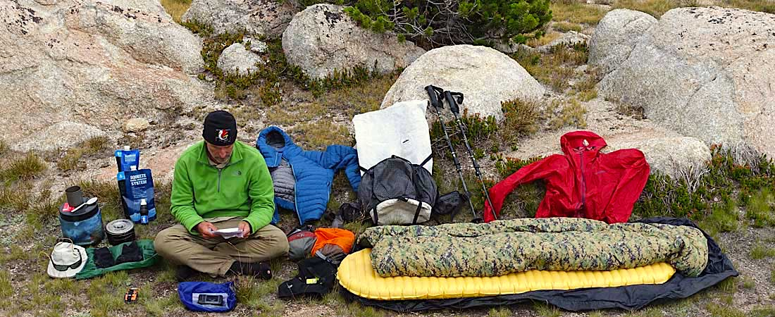 overland camping backpack gear