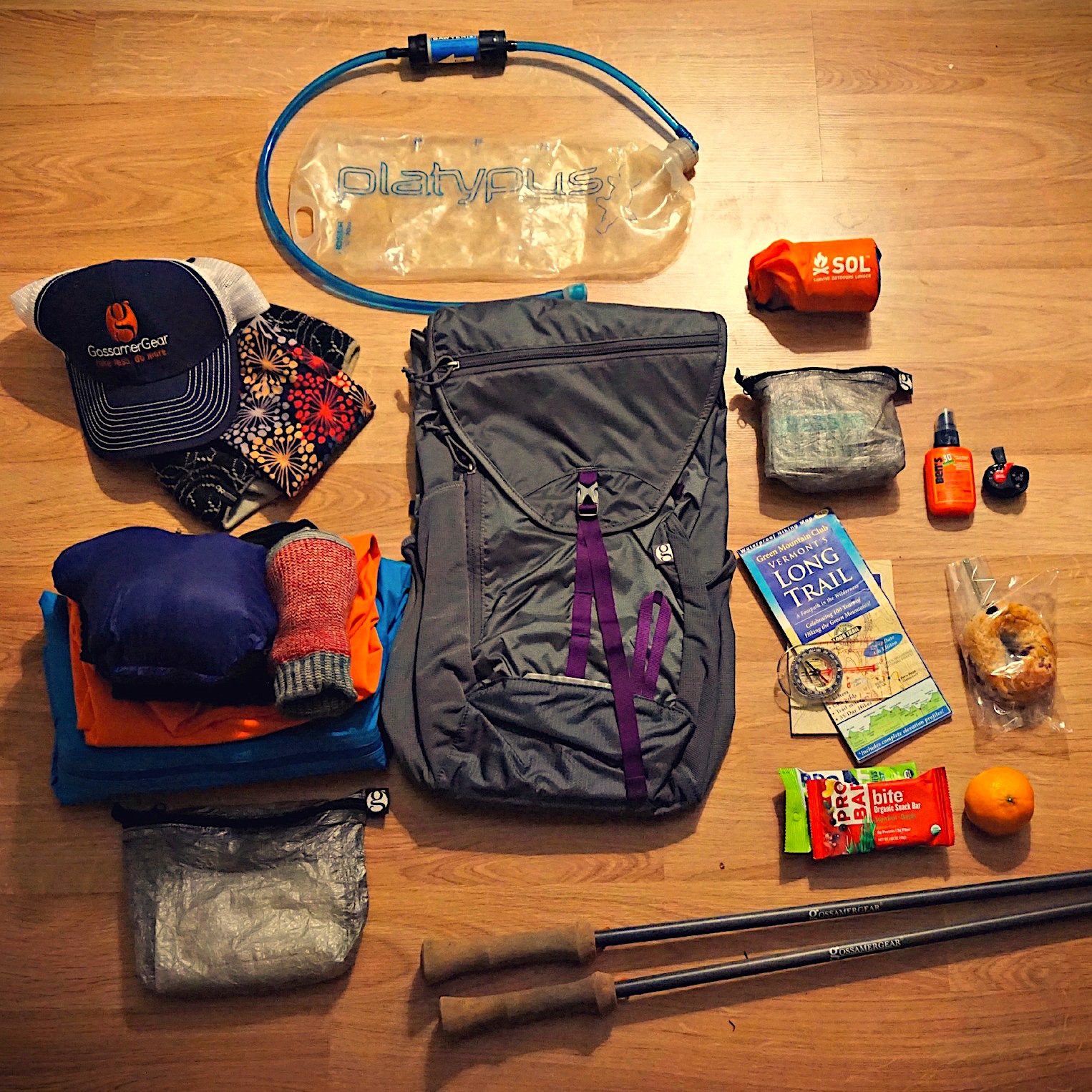 overland day pack gear