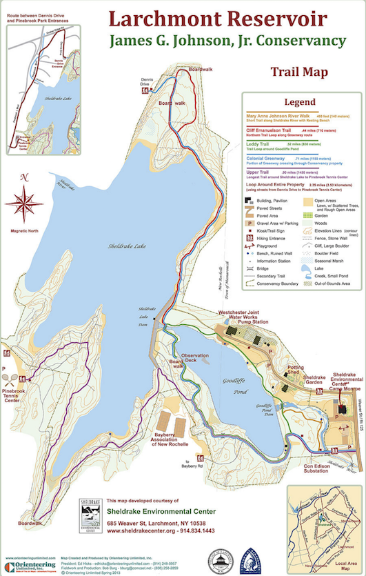 sheldrake trail map mini